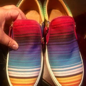 Volatile serape slip-on tennis shoes